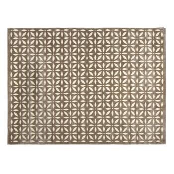 5'x7' Brown Kaleidoscope Reflective Area Rug