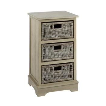 Charlotte Gray 3 Basket Storage Cabinet