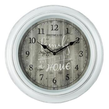"15.5"" White ""Family Makes a House a Home"" Wall Clock"