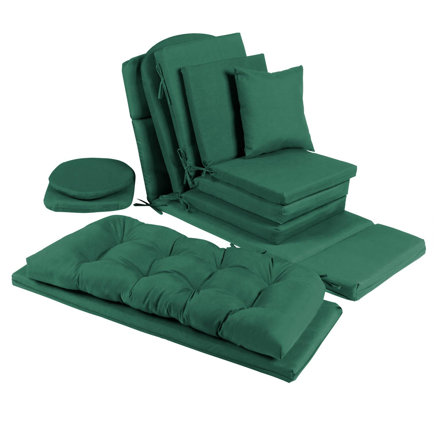 green chair cushions lime green solid hunter green indooroutdoor chair cushions collection