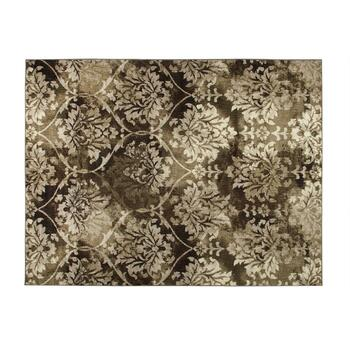"Mohawk Home 7'5"" x 10' Gray Damask Area Rug"