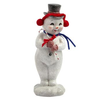 "11"" Red Hat Retro Snowman"