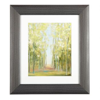 "12""x14"" Green Trees Framed Wall Art"