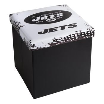 NFL New York Jets Logo Storage Ottoman