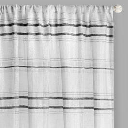 "96"" Embroidered Stripe Rod Pocket Window Curtains, Set of 2 view 1"