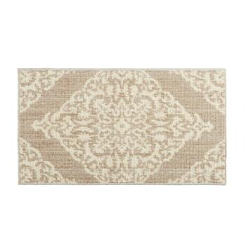 Mohawk Home Taupe/Ivory Damask Patterned Accent Rug
