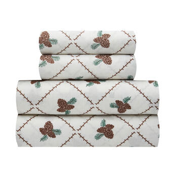 Crisscross Pinecone Sheet Set view 1