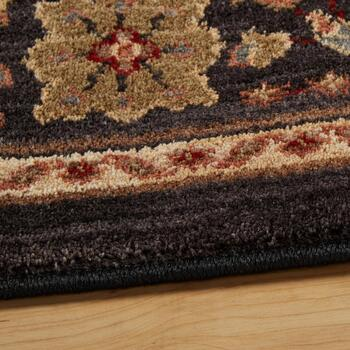 5'x7' Brown Traditional Area Rug view 2