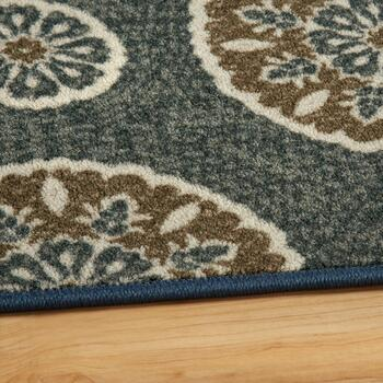 5'x8' Mohawk Home Blue/Brown Medallion Area Rug view 2