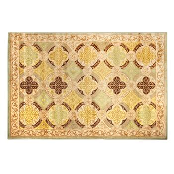 5'x7' Trellis Gate Scroll Border Area Rug