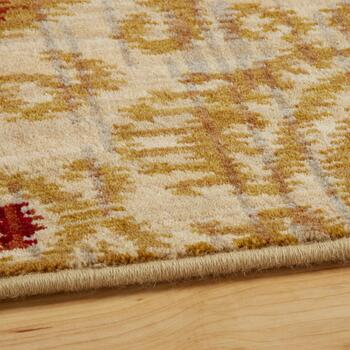 3'x5' Mohawk Home Beige/Red Damask Wool Accent Rug view 2