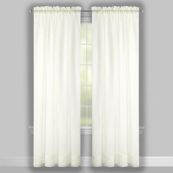 Crushed Window Curtains, Set of 2 view 2