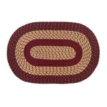 Braided Layered Oval Area Rug