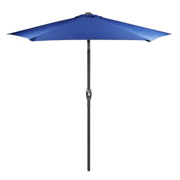 7.5' Blue Crank/Tilt Market Patio Umbrella