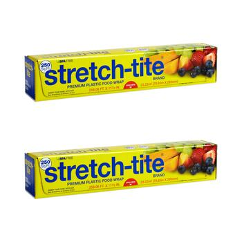 Stretch-Tite® 250' Plastic Food Wrap, Set of 2