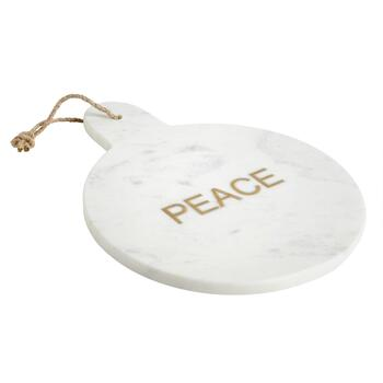 """Peace"" Round Marble Serving Board"