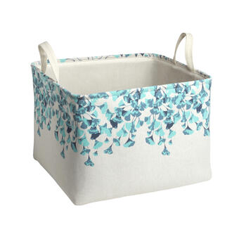 The Grainhouse™ Blue/White Floral Fabric Storage Bin view 1