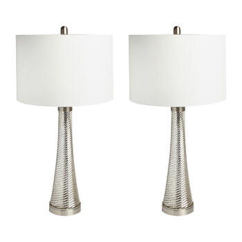 "29.5"" Antique Glass Cone Table Lamps, Set of 2 view 1"