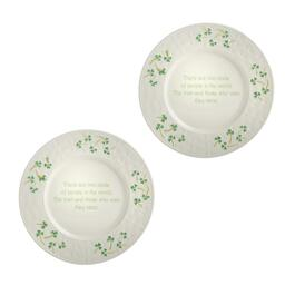 Irish People Shamrock Charger Plates, Set of 2