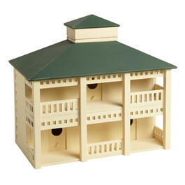 Wood Mansion Birdhouse view 1