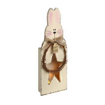 "22.75"" ""Happy Easter"" Lighted Wood Bunny Sitter view 1"