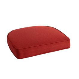 Solid Red Woven Indoor/Outdoor Gusset Seat Pad