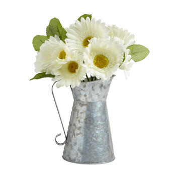 "The Grainhouse™ 13.5"" Daisy Watering Can Decor view 1"