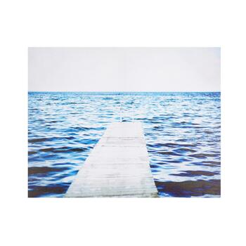 "22""x28"" Blue Waves Pier Canvas Wall Art"