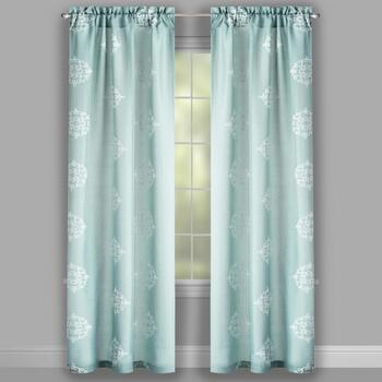 "84"" Embroidered Medallion Window Curtains, Set of 2 view 2"