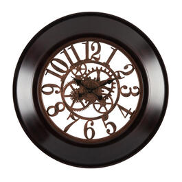 "26"" Exposed Gears Round Wall Clock view 1"
