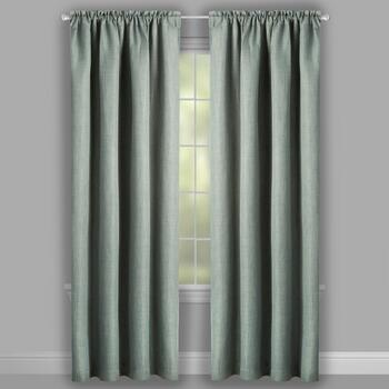 "84"" Thermal Shield™ Solid Green Blackout Window Curtains, Set of 2 view 2"