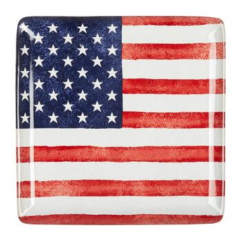 USA Old Glory Square Serving Platter