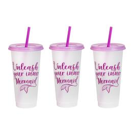 "7"" ""Unleash Your Inner Mermaid"" Tumbler To-Go Cups, Set of 6"