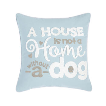 """Without a Dog"" Square Throw Pillow view 1"