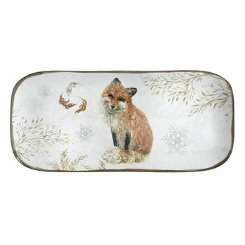 "15"" Winter Woodland Fox Melamine Tray view 2"