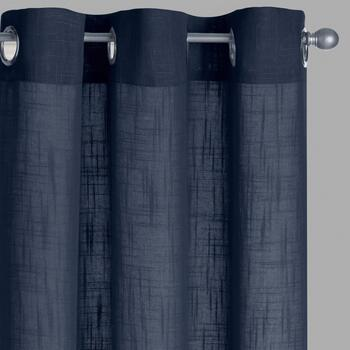 Solid Slub Window Curtains, Set of 2