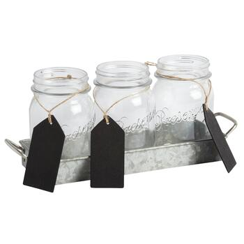 Mason Jar Flatware Caddy Set