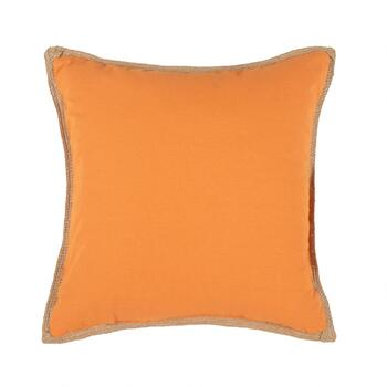 "Orange ""Happy Halloween"" Spider Web Throw Pillow view 2"