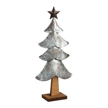 Metal/Wood Christmas Tree Decor