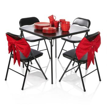 Holiday Bow Chair Covers & Folding Tables & Chairs