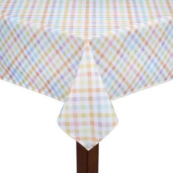 Pastel Gingham Tablecloth