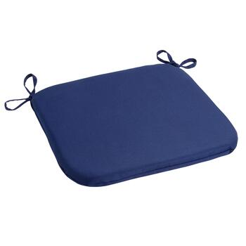 Solid Cobalt Indoor/Outdoor Squared Seat Pad