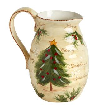 """Merry Christmas"" Santa Ceramic Drink Pitcher view 2"