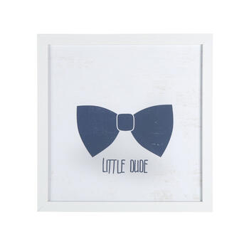 "20"" ""Little Dude"" Bowtie Framed Wall Decor view 1"