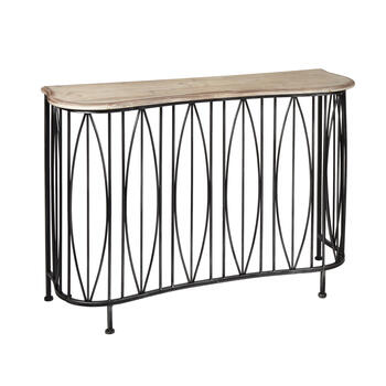 Serpentine Metal Console Table view 1