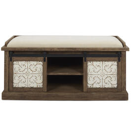 Petal and Stone™ Sliding Drawer Bench view 1