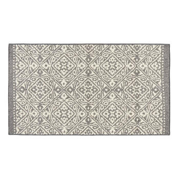 White/Gray Tile Accent Rug view 1
