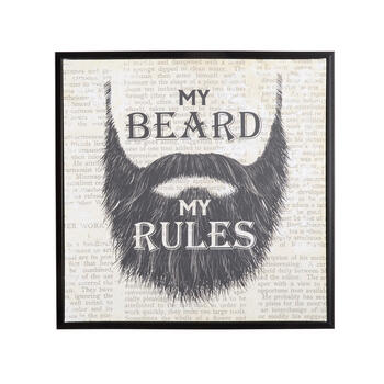 "20"" ""My Beard My Rules"" Framed Wall Decor view 1"