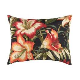 Famous Maker Coral Botanical Indoor/Outdoor Oblong Throw Pillow view 1