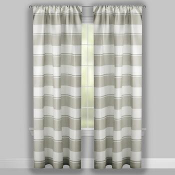 Cole Stripe Window Curtains, Set of 2 view 2